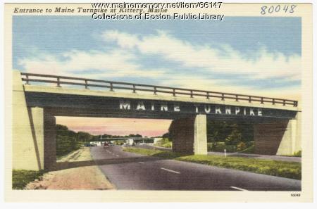 Entrance to Maine Turnpike, Kittery, ca. 1950