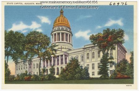State Capitol, Augusta, ca. 1935