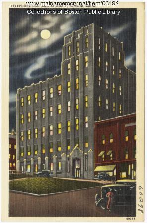 Telephone building, Bangor, ca. 1935