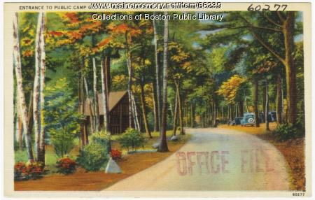 Campground, Acadia National Park, ca. 1935