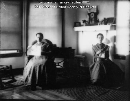Sisters Ada S. Cummings and Lizzie Bailey, Sabbathday Lake, ca. 1915