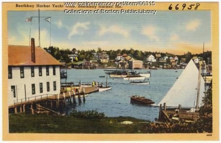 Boothbay Harbor Yacht Club, ca. 1935