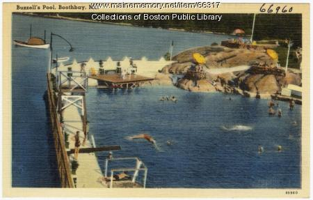 Buzzell's Pool, Boothbay, ca. 1938