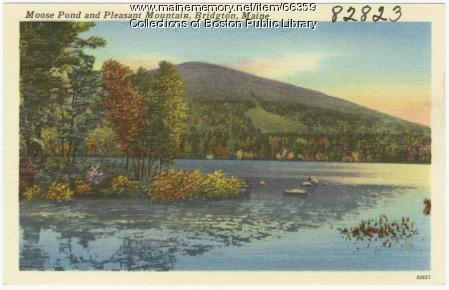 Moose Pond and Pleasant Mountain, Bridgton, ca. 1938