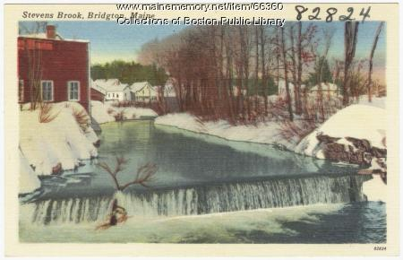 Stevens Brook, Bridgton, ca. 1938