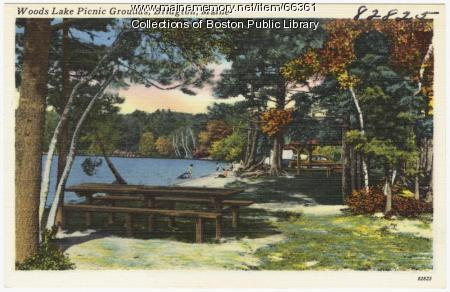 Woods Lake Picnic Grounds, Bridgton, ca. 1938