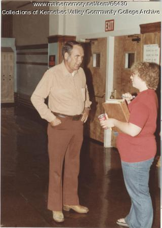 Gilman School's Sherman Tracy with student, Waterville, 1983