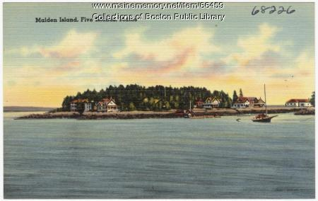 Malden Island, Five Islands, ca. 1938