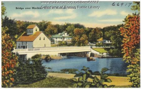 Machias River bridge, Machais, ca.1938