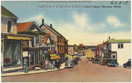 Main Street, Machias, ca. 1938