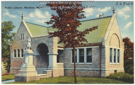 Porter Memorial Library, Machias, ca. 1935
