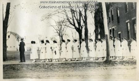 Arbor Day Procession, Farmington State Normal School, 1918