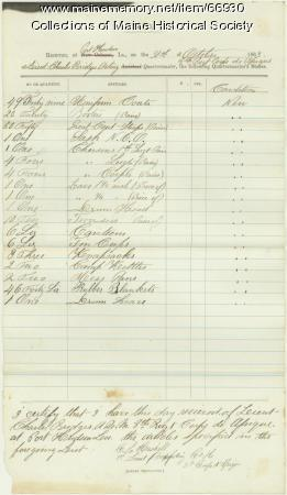 Lt. Bridges equipment transfer, Port Hudson, LA, 1863