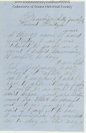 John C. Phinney to Lt. Charles Bridges, Louisiana 1864