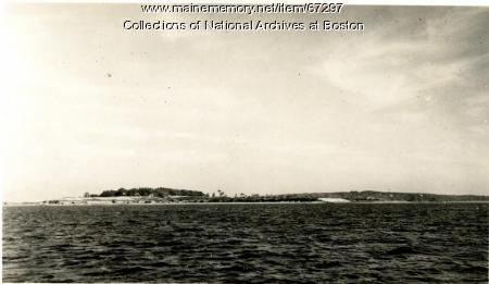 Little Chebeague Island, view from south, 1947
