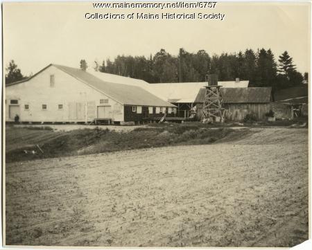 George S. Jewett corn shop, Norridgewock, 1925