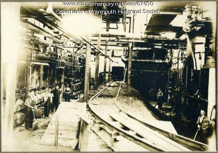 Forest Paper Co. boiler room, Yarmouth, ca. 1900