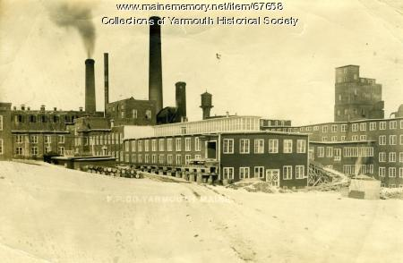 Winter, Forest Paper Co., Yarmouth, ca. 1900