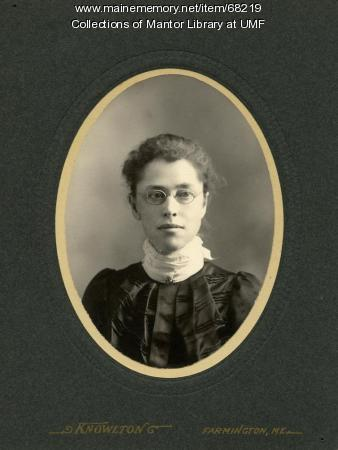 Lillian Lincoln, Farmington State Normal School, ca. 1895