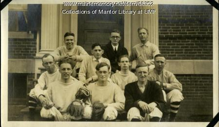 Baseball Team, Farmington State Normal School, 1923