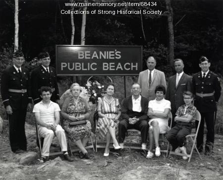 Beanie's Public Beach Dedication, Strong, ca. 1963