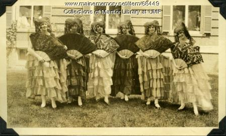 Spanish ladies, Farmington State Normal School, 1928