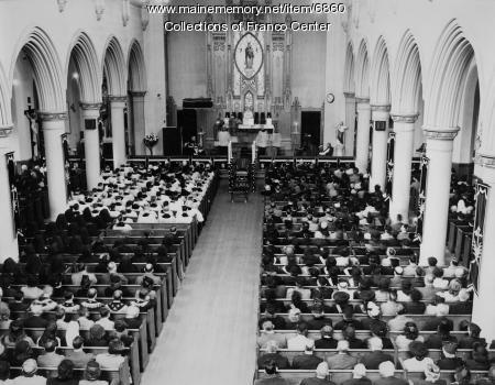 Funeral service, St. Mary's Church, Lewiston