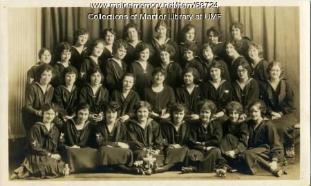Girls' Glee Club, Farmington State Normal School, 1924