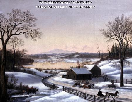 Winter scene near Portland, ca. 1848