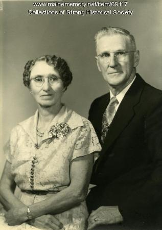Lester and Mabel Lewis, Strong, ca. 1945