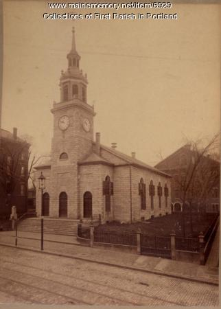 First Parish Church, Portland, ca. 1890