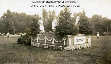 Aurora Grange #202 Parade Float, Strong, ca. 1936