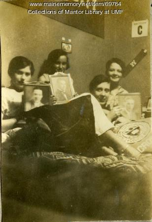 Dorm room, Farmington State Normal School, ca. 1928