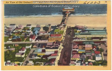 Aerial view of Old Orchard Beach, ca. 1938