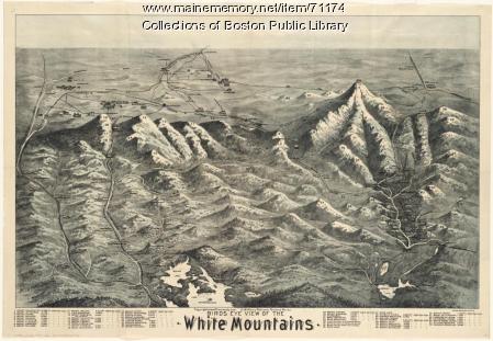 Birds eye view of the White Mountains, 1890