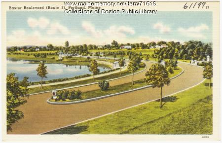 Baxter Boulevard, Portland,  ca. 1938