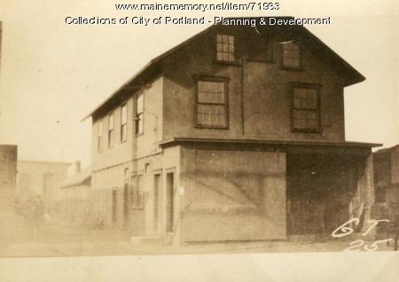 Electric Building, Presumpscot Street (rear), Portland, 1924