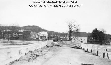 Station Bridge between Cornish and West Baldwin, March 1936