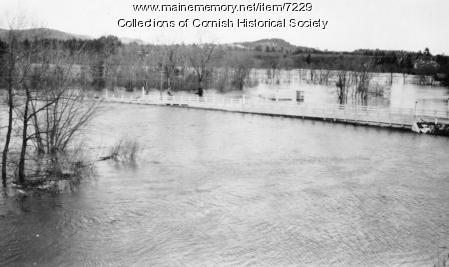 Curved Bridge between Cornish and South Hiram, flood of March 1936