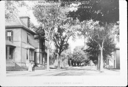 Pine Street, Lewiston, ca. 1895