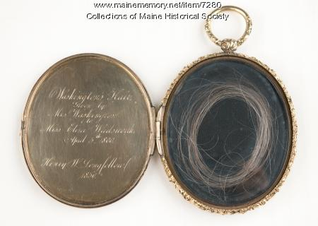 Locket of George Washington's hair