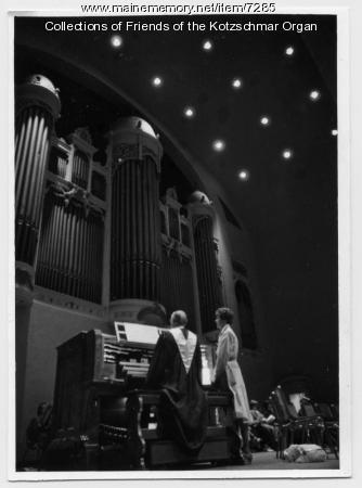 Organist Malcolm Cass, Portland, 1987