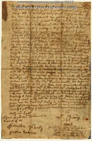 Wesumbe deed, Nov. 28, 1668