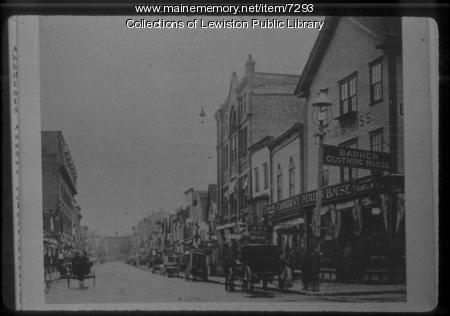 Lisbon Street, Lewiston, ca. 1880