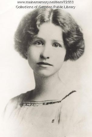 Edna St. Vincent Millay, Camden, ca. 1909