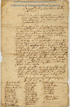Petition to Parliament by George Cleeve, 1642
