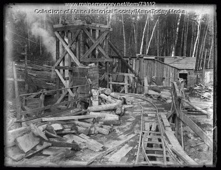 Portland Water District construction, Sebago Lake, ca. 1924