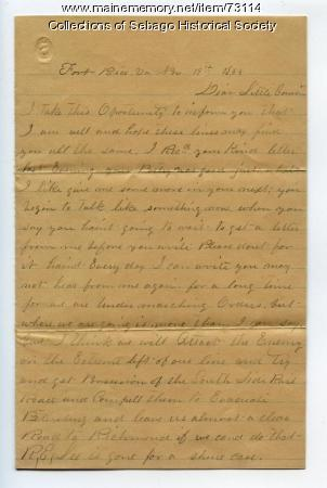 Sergeant Walter Rounds Letter, VA, 1863