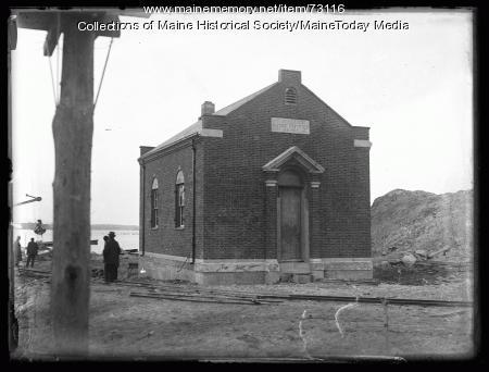 Portland Water District intake house, Sebago Lake, ca. 1924