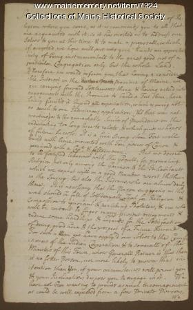 Letter inviting Rev. M. Baxter to move to Brunswick, 1717